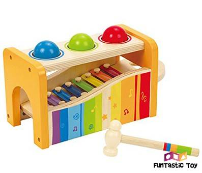 Product Image Of Hape Pound Tap Bench with Slide Out Xylophone