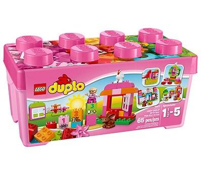 Product Image Of LEGO DUPLO All-in-One Pink Box of-Fun 10571