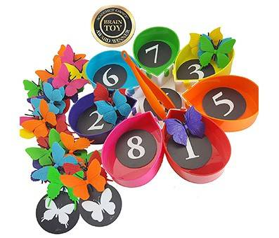 Product Image Of Skoolzy Butterfly Garden Color Sorting and Counting Toy