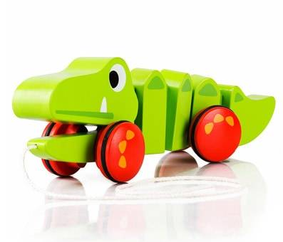 COSSY Wooden Alligator - Sorter & Pull Toy Product image