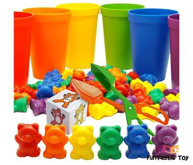 Image of product Skoolzy Rainbow Counting Bears with Matching Sorting Cups