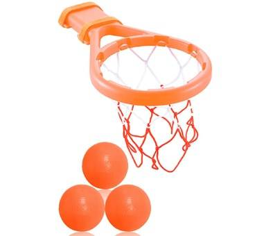 Product image of 3 Bees & Me Bath Toy Basketball Hoop & Balls Set