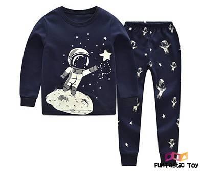 Product image of CNBABY Boys Luminous Astronaut Pajamas