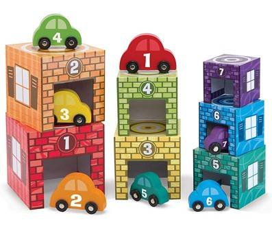 Product image of Melissa & Doug Nesting and Sorting Garages and Cars