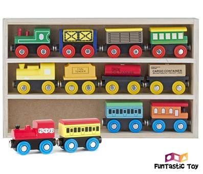 Product image of Play22 Wooden Train Set 12 pcs