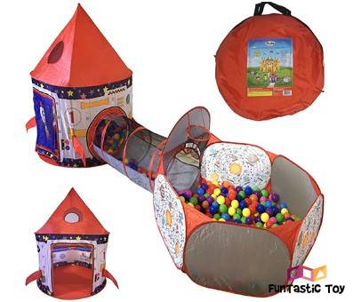 Product image of Playz 3pc Rocket Ship Astronaut Tent