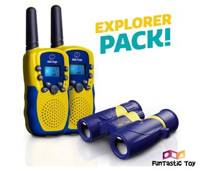 Product image of USA Toyz Kids Walkie Talkies with Binoculars