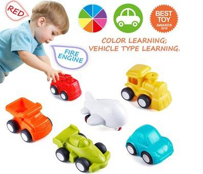Product image of VATOS Toddler Boy Car Toys for Learning Colors