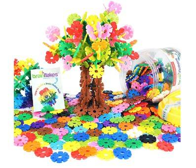 Product image of VIAHART Brain Flakes 500 Piece Interlocking Plastic Building Disc Set