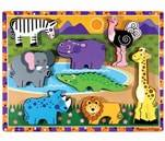 Small Product image of Melissa & Doug Safari Wooden Chunky Puzzle