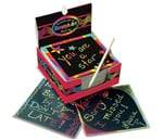Small Product image of Melissa & Doug Scratch Art Box of Rainbow Mini Notes