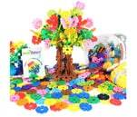 Small Product image of VIAHART Brain Flakes 500 Piece Interlocking Plastic Building Disc Set