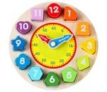 Small Product image of Wondertoys Wooden Shape Sorting Clock