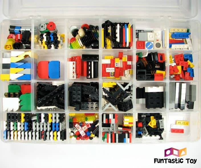 Image of box with sorted legos