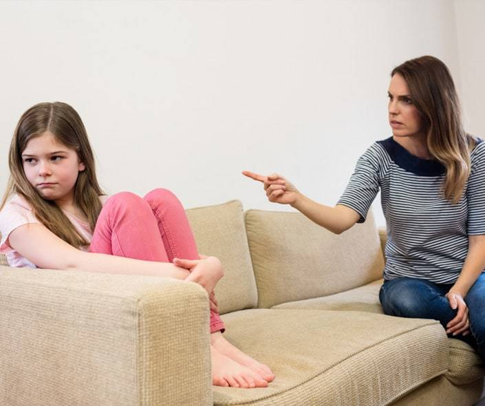 Image of daughter ignoring her mother after argument