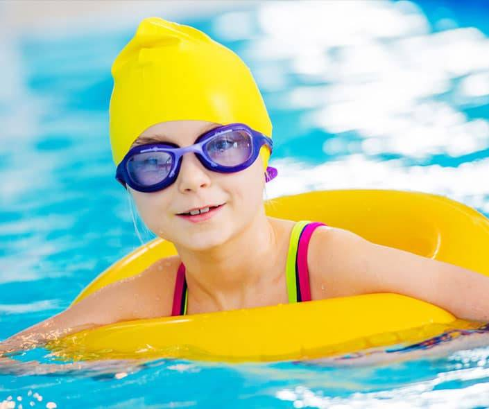 Image of girl swimming in pool