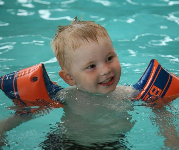 Image of little boy in pool