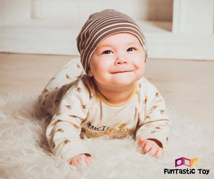 Image of smiling baby with hat