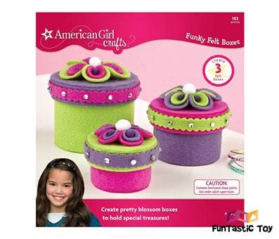 Product image of American Girl Crafts Felt Jewelry Box Girls Activity Ki