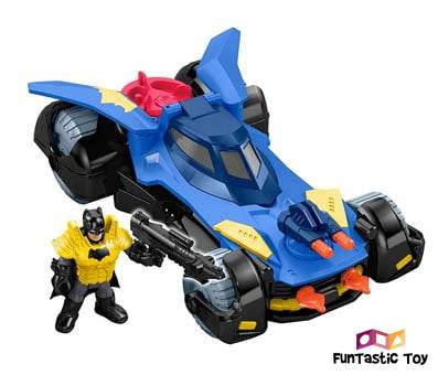 Product image of Fisher-Price Imaginext DC Super Friends Batmobile blue