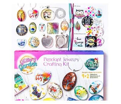 Product image of Glittery Garden Girls Jewelry Making Kit