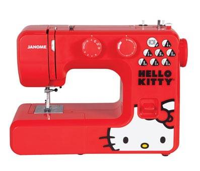 Product image of Janome 13512 Red Hello Kitty Sewing Machine
