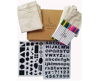 Product image of Lifetime Inc Tote Decorating Kit with Canvas Bags
