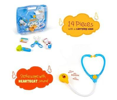 Product image of Nuoke Doctor Kit with Heartbeat Sound Stethoscope