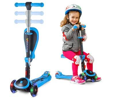 Product image of SKIDEE Scooter for Kids with Folding Seat