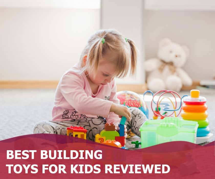 Featured image of little blonde girl playing with building toys