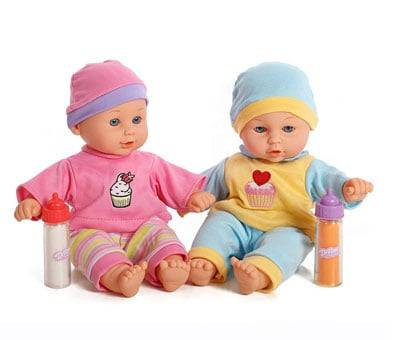 Product image of Baby Twins Dolls with Milk & Juice Bottle