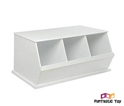 Product image of Badger Basket Three Bin Storage Cubby