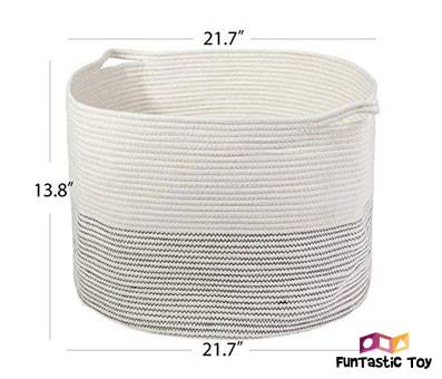 Product image of INDRESSME XXXLarge Cotton Rope Basket Perfect for Toys