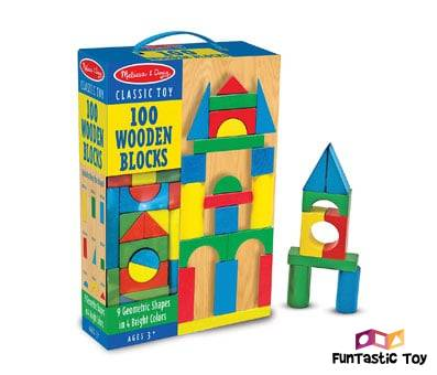 Product image of Melissa & Doug Wooden Building Blocks Set