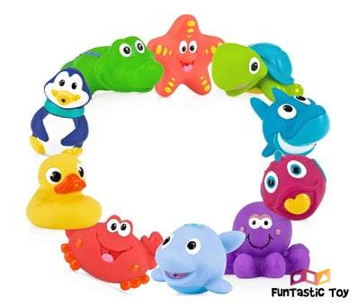 Product image of Nuby 10-Pack Little Squirts Fun Bath Toys