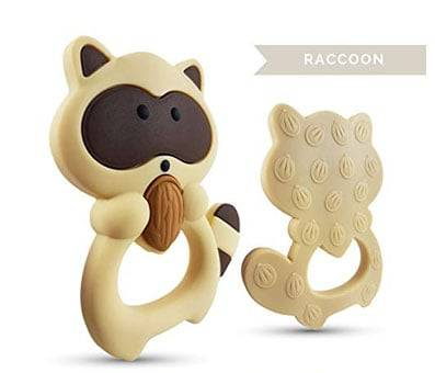 Product image of Raccoon Silicone Teether