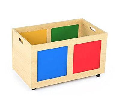Product image of Tot Tutors TB895 Primary Focus Rolling Toy Box