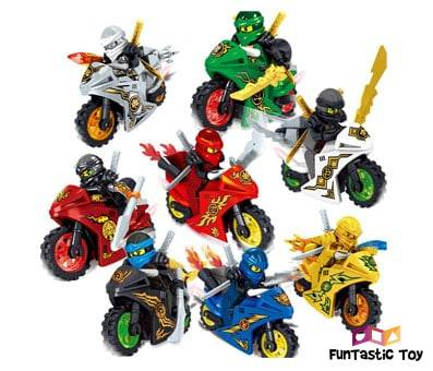Product image of X Hot Popcorn 8 Style Cartoon Motorcycle Blocks