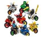 Small product image of X Hot Popcorn 8 Style Cartoon Motorcycle Blocks