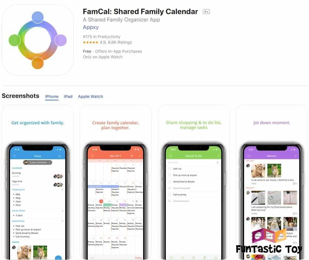 famcal family calendar app