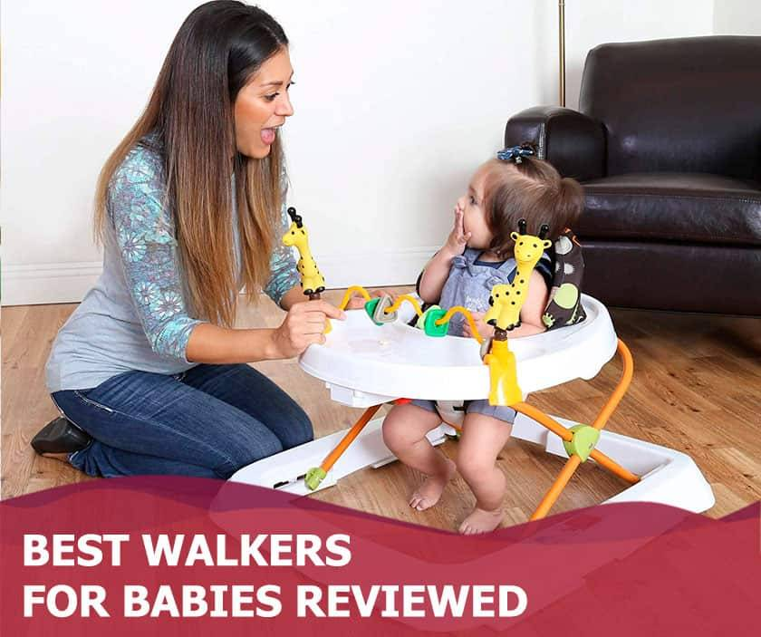 Featured image of excited mother and baby girl in baby walker