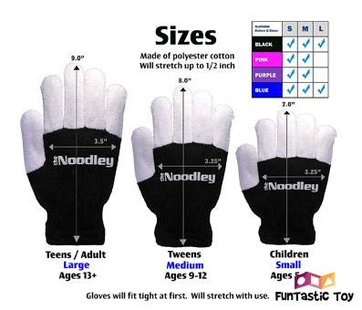 Product image of The Noodleys Children LED Finger Light Gloves