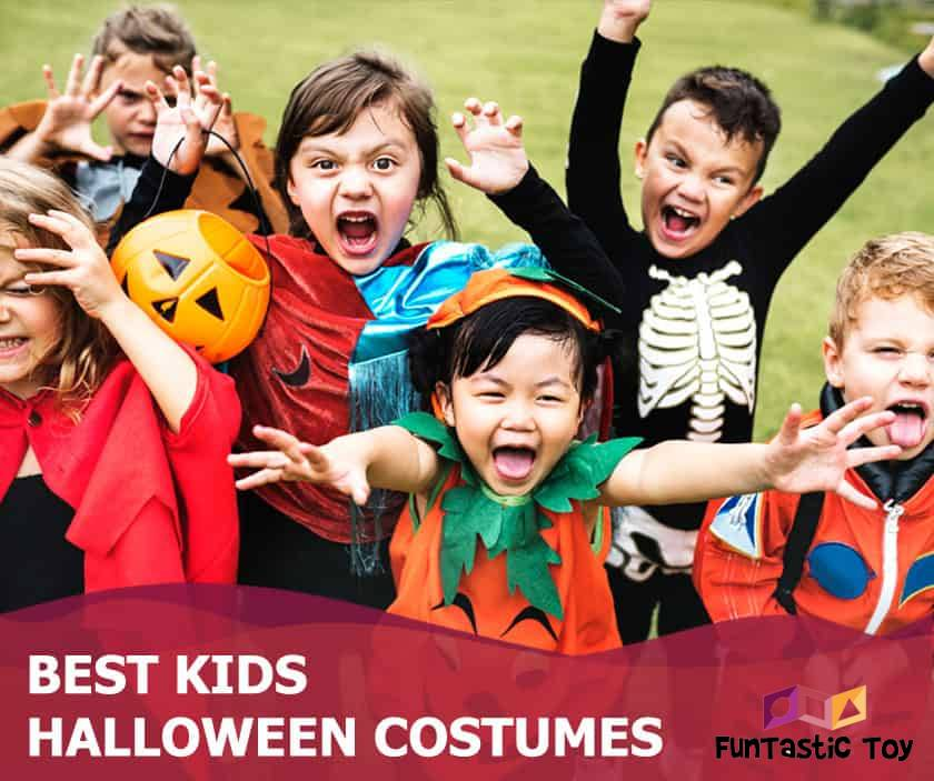 Featured image of children in halloween costumes making scary faces