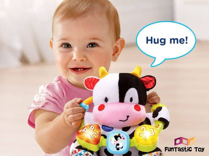 Image of baby with Lil Critters Moosical Beads