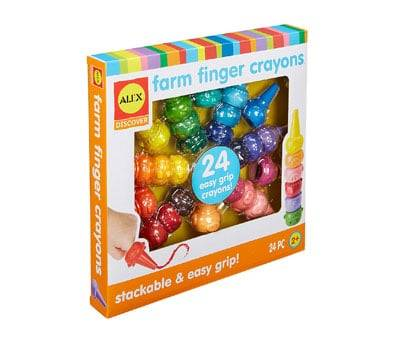 Product image of ALEX Toys Little Hands Farm Finger Crayons