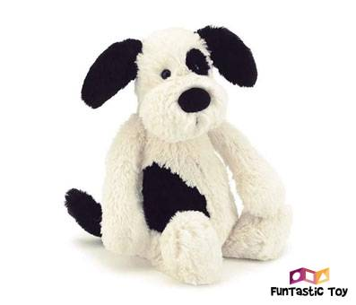 Product image of Jellycat Bashful Black and Cream Puppy
