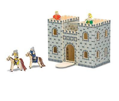 Product image of Melissa & Doug Fold & Go Wooden Castle