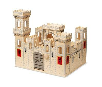 Product image of Melissa & Doug Folding Medieval Wooden Castle
