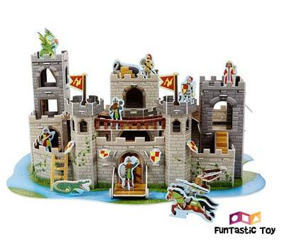 Product image of Melissa & Doug Medieval Castle 3-D Puzzle and Play Set