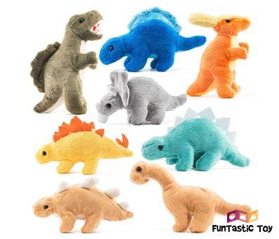 Product image of Prextex Plush Dinosaurs 8 Pack